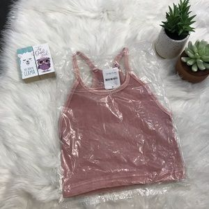 Free People Tops - NWT Pink Happiness Runs Crop M/L